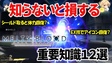 知らないと損する「MELTY BLOOD: TYPE LUMINA」システム解説